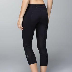 Lululemon Run Inspire Crop Pants Leggings Black